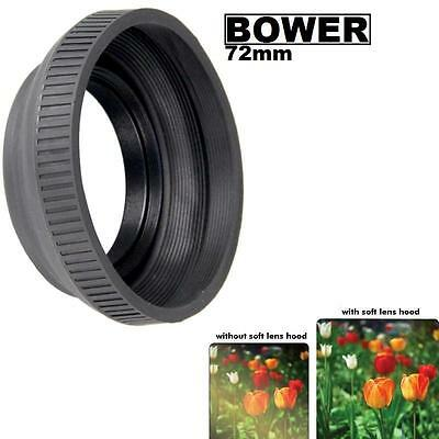 Bower 72mm (black) Collapsible Rubber Lens Hood For  Camera Lens & Camcorder