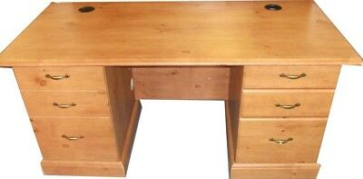 Antique Pine Colour French Gardens Desk with 2 drawers and cupboard