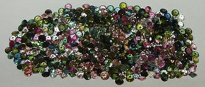 3mm Brazil Assorted Color Tourmaline Round Cut SPECIAL