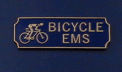 BICYCLE EMS Award.Commendation Uniform Bar Gold on Blue police/sheriff/fire/EMT