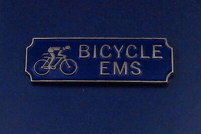 BICYCLE EMS Award.Commendation Uniform Bar Silver on Blue police/sheriff/fire