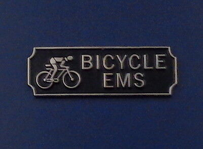 BICYCLE EMS Award.Commendation Uniform Bar Silver on Black police/sheriff/fire