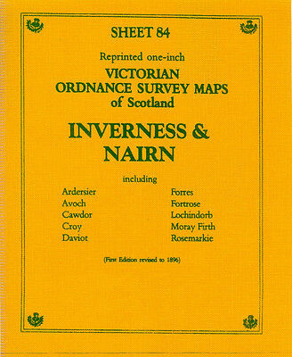 Map Of Inverness & Nairn Victorian Ordnance Survey