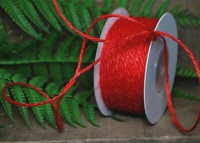 """Thin RED JUTE / Twine - 50 Yards ( 150 feet )  - 1/16"""" - -  perfect for crafts"""