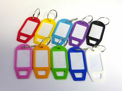 Random Mixed Key Tags Rings Plastic Assorted Name Label (5,10,20,30,50,100,200)