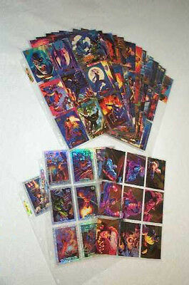 1994 Marvel Masterpieces Card set plus all 19 Holofoil and PB insert chase cards