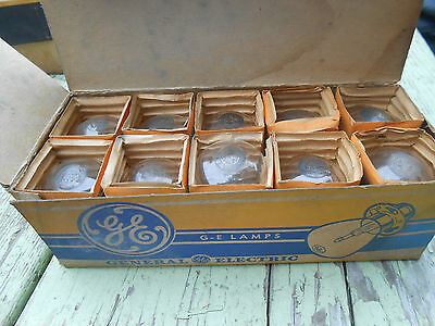 NOS Vintage GE General Electric Box of 10 Lamps # CG 1110-A
