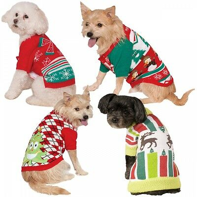 Ugly Christmas Sweater Funny Pet Dog Christmas Costume Fancy Dress
