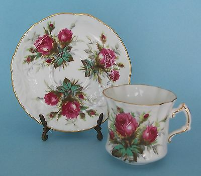 Hammersley Grandmother's Rose Cup and Saucer Bone China England Style A H31 H26