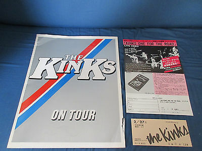 Kinks 1982 World Tour Book with Ticket Stub Flyer Ray Davies Concert Program