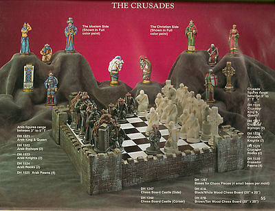 *Doc Holliday Ceramic Crusades Chess Set Ready to Paint*