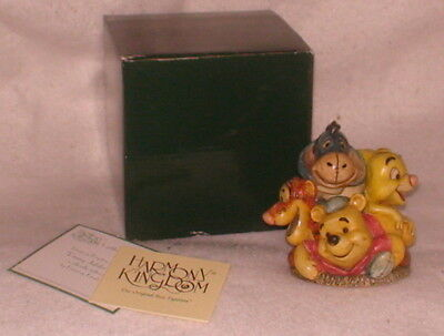 "NIB Disney Jubilee Pooh & Friends Harmony Kingdom New Crushed Marble 4.5"" High"
