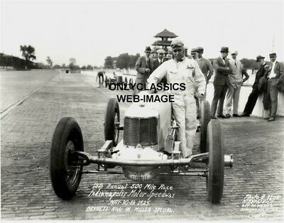 1925 Bennett Hill Indy 500 Indianapolis Motor Speedway Miller Auto Racing Photo