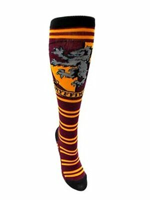 Harry Potter House of Gryffindor Juniors Knee High Derby Socks, NEW UNUSED