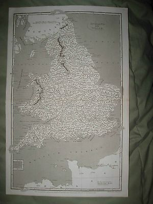 Gorgeous Antique 1809 England Wales Arrowsmith Dated Map Scilly Isles Detailed N