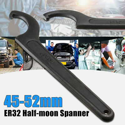 ER32 Half-moon Spanner Mill Holder Chuck Collet Wrench CNC Drill Tool 45-52mm