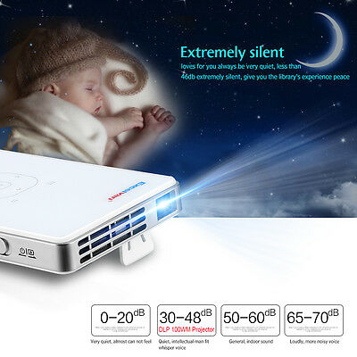 Excelvan Mini DLP HDMI HD Proyector LED Android Proyector Cine en Casa TV Audio