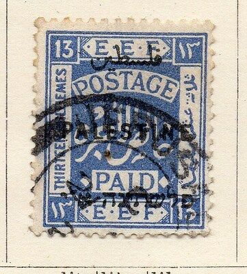Palestine 1920-21 Early Issue Fine Used 13m. 138069
