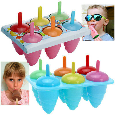 Kids Ice Lolly Mold Maker Home Made Party Treat Lollies Mould Freezer Tray Pops