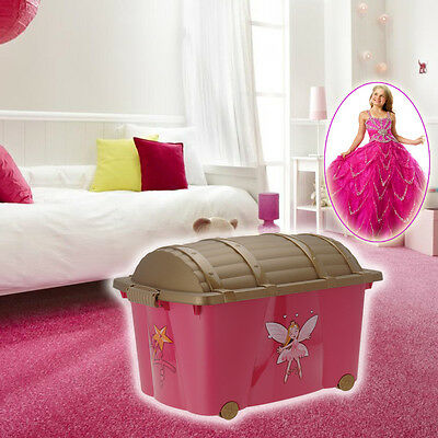Large Kids Girls Princess Bedroom Storage Toy Box Chest Playroom Laundry Pink