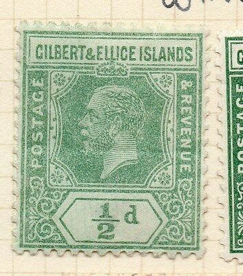Gilbert Ellice Islands 1912 Early Issue Fine Mint Hinged 1/2d. 138574