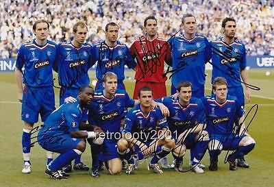 Glasgow Rangers FC 2008 UEFA Cup Final full team signed re-print