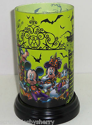 Disney Haunted Mansion Flameless Candle Glass Theme Parks Mickey Minnie Goofy
