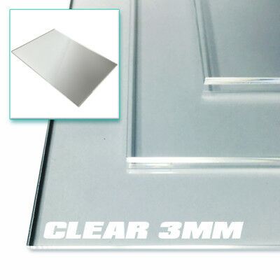 Perspex Acrylic Sheet 3mm CLEAR - Sizes A3, A4 & A5 Plastic Panels
