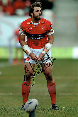Josh MANTELLATO Rugby Super League Hull KR Signed Autograph 12x8 Photo AFTAL COA