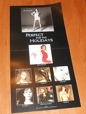 Mariah Carey #1's Perfect for the Holidays Poster Flat Square 1998 Promo 12x24