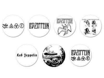 Lot Badge Button Ø25mm Led Zeppelin UK Hard Rock Heavy Metal Page Plant
