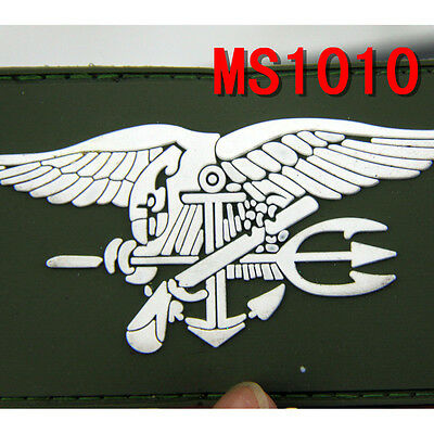 PVC Tactical Military US Navy Seal Patch Combat Badge Patches