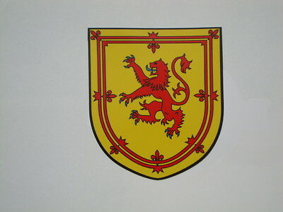 Royal Arms Of Scotland Stickers X 2  Shield Flag Car Bumper /window Decal Scots