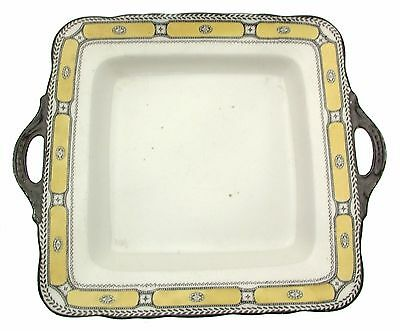 c1915 Sutherland William Hudson 1100 Yellow Black Cake Plate