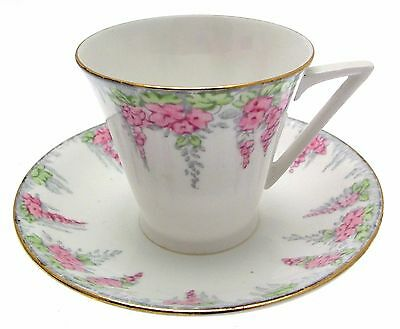c1930 Royal Standard Foxglove 8210 Art Deco Cup and Saucer