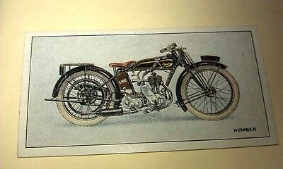 HUMBER  Motorcycle - Wills New Zealand Cigarette Card Issued 1926