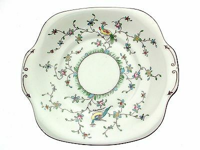 Crown Staffordshire 5425 Peacock Cake Plate