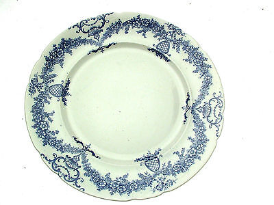 C And Co Festoon Flow Blue 10.75 Inch Plate