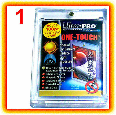 1 Ultra Pro ONE TOUCH MAGNETIC 180pt UV Card Holder Display Case Vintage Trading