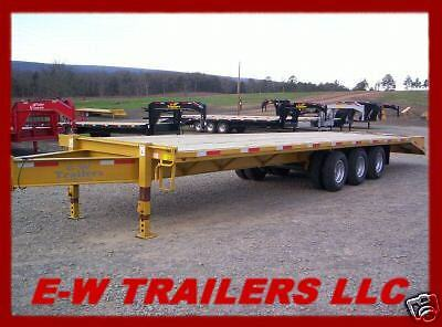 NEW '15 GOOSENECK OR PINTLE EQUIPMENT TRAILER 34' TRIPLE WITH DUALS