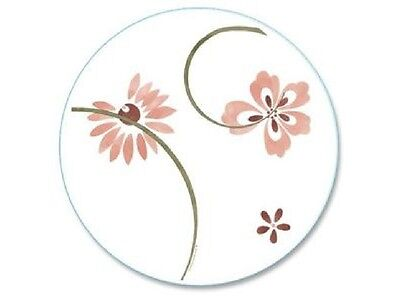 """Corelle PRETTY PINK Floral 13"""" LAZY SUSAN Tempered GLASS TURN-TABLE Server"""