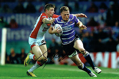 Joe BURGESS Signed Wigan Warriors Super League Autograph 12x8 Photo AFTAL COA