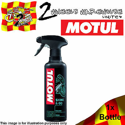 1x MOTUL E5 SHINE & AND GO MOTORBIKE POLISH MOTORCYCLE FAIRING SCOOTER CLEANS