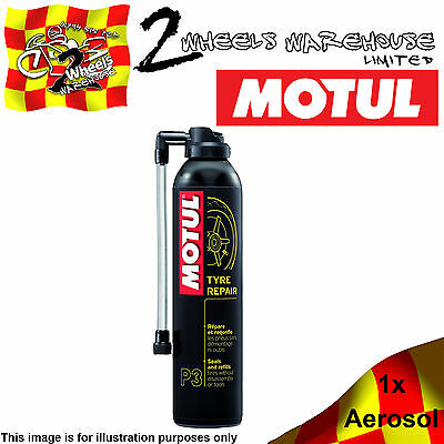 1x MOTUL P3 TYRE REPAIR PUNCTURE TIRE FOAM RE-INFLATE WITHOUT TOOLS SEAL FIX CAR