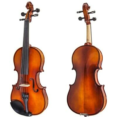 NEW Solid Maple Spruce Fiddle Violin 1/2 Half Size w Case Bow Rosin String VN201