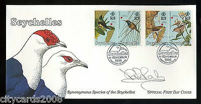 1996 SEYCHELLES Birds   FDC Signed Mark Powley Actor