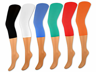 2er Pack Damen Capri Leggings versch. Farben 70 DEN Caprileggings Damenleggings
