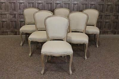 French Style Cafe Dining Chairs In Limed Oak And Upholstery Paris Side Chairs
