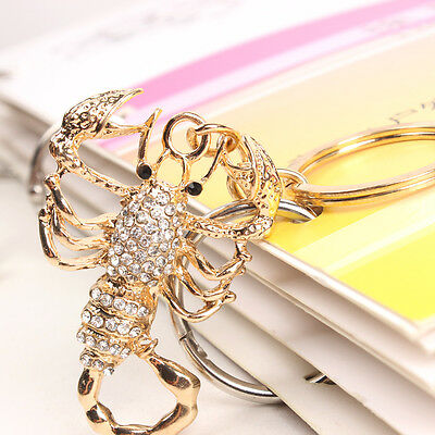 Scorpion New Pendent Charm Rhinestone Crystal Key Ring Chain Creative Collection