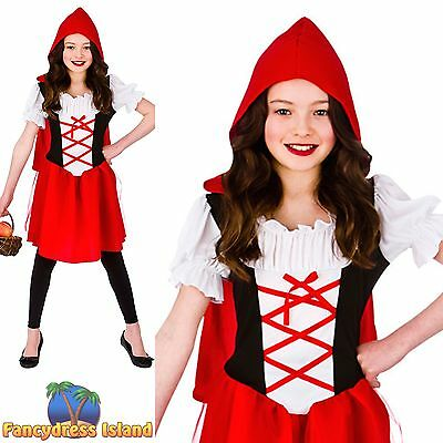 KIDS FAIRYTALE LITTLE RED RIDING HOOD CHILD Age 3-13 Girls Fancy Dress Costume